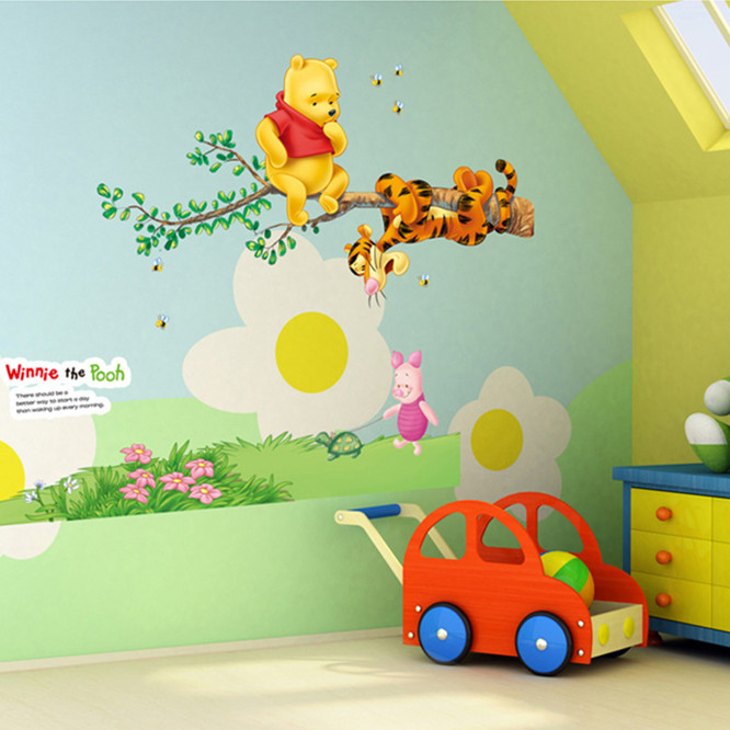 Top Lovely Cartoon Tigger Winnie The Pooh Wall Stickers For Kids Room Cute Decal Wallpaper For Baby Wall Home Decor Pooh Wall Stickers Sticker For Kids Roomwall Stickers For Kids Aliexpress