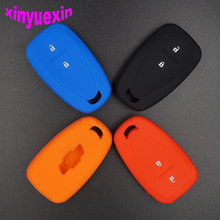 Xinyuexin Silicone Car Key Cover FOB Case For Chevrolet Cruze Spark 2016 with 2 Buttons Smart Remote Key Case Jacket car-stying