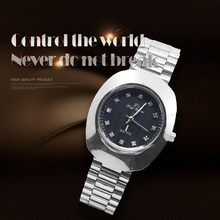 NEW 2019 Brand New Stainless Steel Chain Fashion Gold Watch Women man Wristwatches Quartz Watches(China)