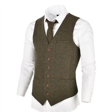 007 Herringbone Vest VOBOOM