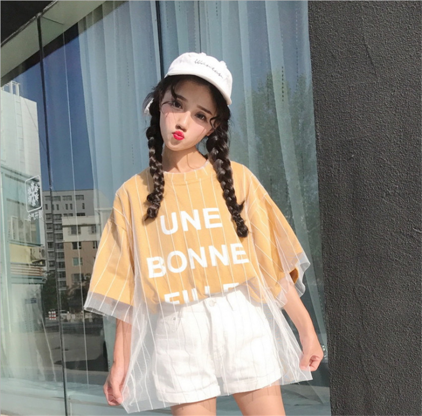 MLCRIYG 2018 new white women's short sleeved summer wear T-shirts
