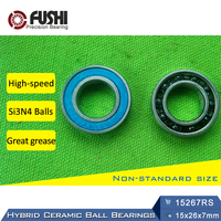 15267 Hybrid Ceramic Bearing 15x26x7 Mm ABEC 1 1 PC Bicycle Bottom Brackets Spares 15267RS Si3N4