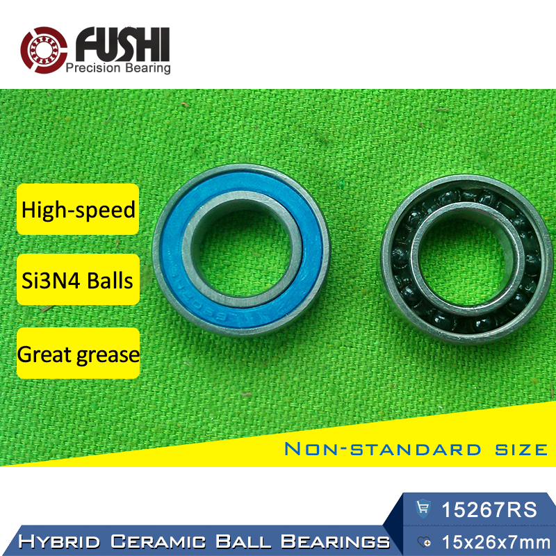 15267 Hybrid Ceramic Bearing 15x26x7 mm ABEC-1 (1 PC) Bicycle Bottom Brackets & Spares 15267RS Si3N4 Ball Bearings 15267-2RS 7805 2rsv 7805 angular contact ball bearing 25x37x7 mm for fsa mega exo raceface shimano token bb70 raceface bottom brackets page 1