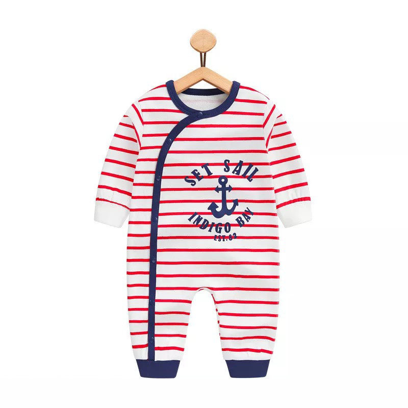 Infant Jumpsuit Long Sleeves Striped Romper Baby Boy Girl Clothes Tiny Cottons New Born Toddler Onesie Overall Pajamas