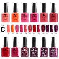 12pcs*7.5ml per Set Nail Gel VENALISA Fast Shipment 60 Colors Nail Gel Nail Soak Off UV LED Nail Lacquer Gel Varnish