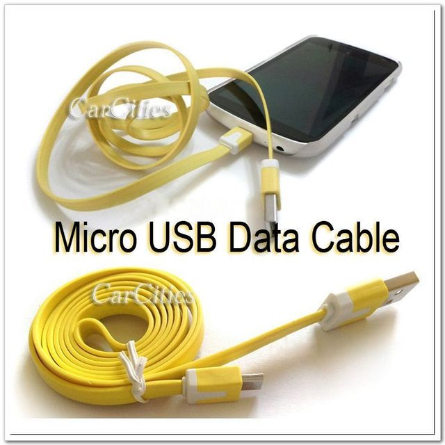 Free shipping CN mini usb cable Micro 5Pin Noodles Flat Sync USB Data Cable For Samsung S3 S2 HTC One S Blackberry Nokia Sony LG
