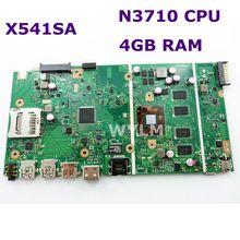 X541SA N3710 процессор 4 Гб ОЗУ материнская плата версия 2,0 для ASUS X541 X541S X541SA Материнская плата ноутбука 90NB0CH0-R00010 тест ОК бесплатная доставка