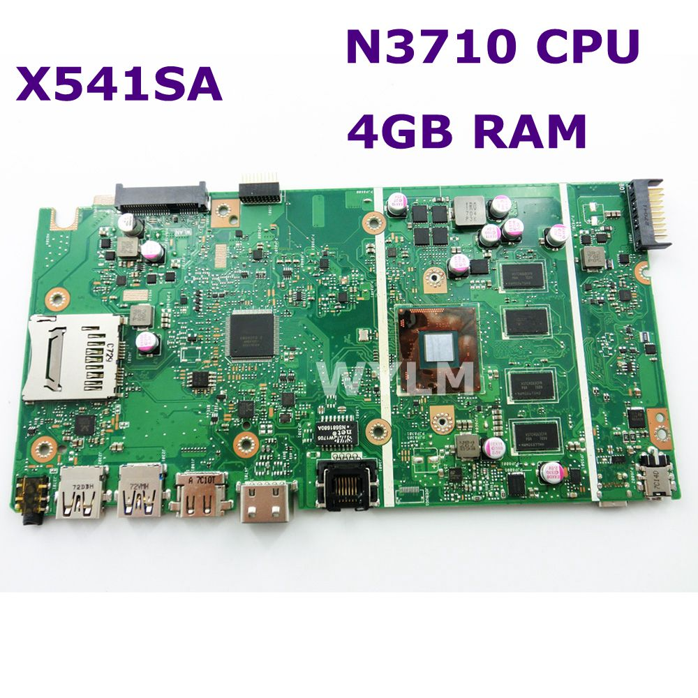 X541SA N3710 CPU 4GB RAM mainboard REV 2.0 For ASUS X541 X541S X541SA laptop motherboard 90NB0CH0 R00010 Test ok free shipping