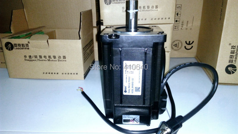 Leadshine Hybrid Servo Motor 86HBM80-EC equal to 86HS80-EC 1.8 degree 2 Phase NEMA 34 with encoder 1000 line and 1 N.m torque dcs810 leadshine digital dc brush servo drive servo amplifier servo motor controller up to 80vdc 20a new original
