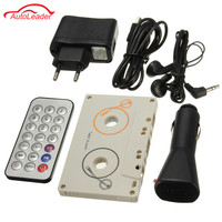 Portable Vintage De Voiture Cassette SD MMC MP3 Bande Lecteur Adaptateur Kit Avec Télécommande Instruction Stéréo Audio Cassette Lecteur