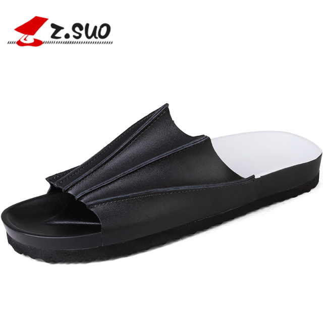 3b29224da Z.Suo Fashion Men Slippers British Style Summer Sandals Leisure Fashion  Beach Shoes