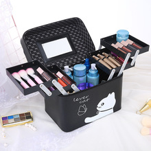 Multifunctional Professional Hand-held Cosmetic Case Portable Large Capacity Accessories Travel Makeup Tool Kits