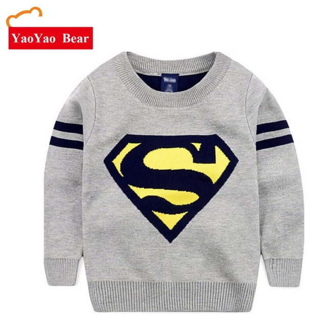 23d5255a1 Winter Superman Boys Sweater Baby Long Sleeve Pullover Tops Toddler ...