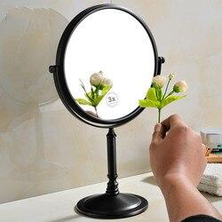 Czarny lusterko biurkowe lustro lustro kosmetyczne łazienka hotel lustro stołowe srebro dwustronne lustro powiększające lo821550