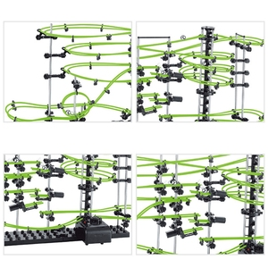 Image 2 - Space Coaster Spacerails Glow in the Dark 13500mm Rail Level 3 Game 2333G