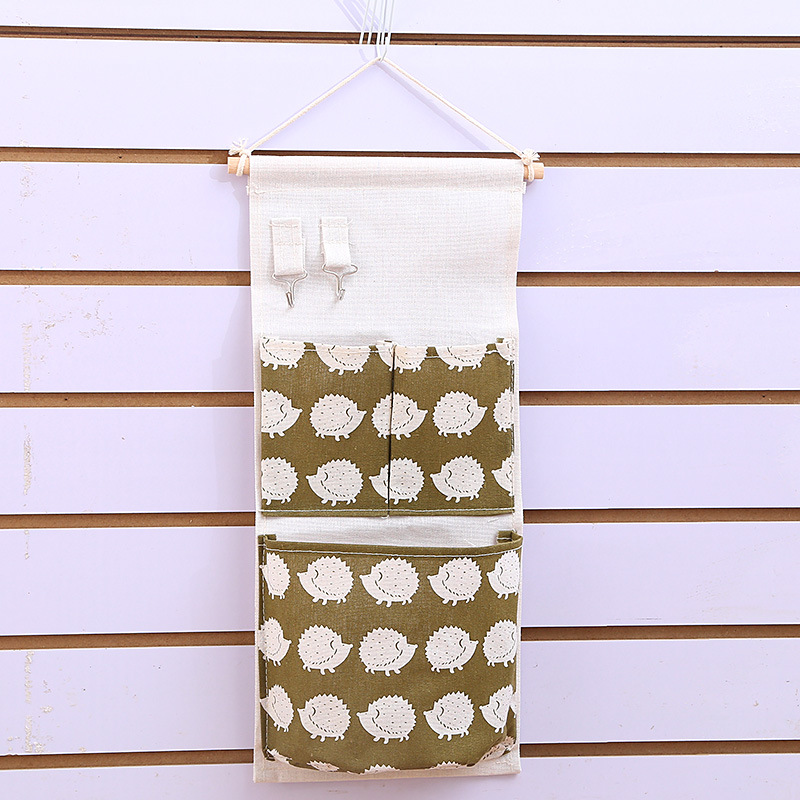 Cotton Linen Storage Bag Door Wall Multi layer Holder Hanging Organizer Bag Makeup Jewelry Storage Box Home Decoration Organiser in Storage Bags from Home Garden