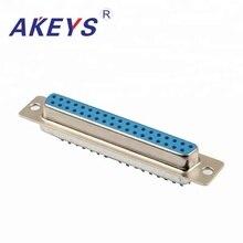 цена на 2PCS VGA Interface DB37 Pin Double Row Blue Core Female VGA Adapter Interface