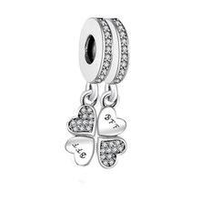 Подходят Pandora Браслеты Best друг навсегда Подвеска Шарм стерлингового серебра 925 изготовление украшений из бисера berloque