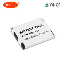680mAh NB-11L Batterie NB 11L NB11L Pour Canon A2600 A3500 A4000IS IXUS 125 132 140 240 245 265 155 HS(China)
