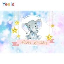 Yeele Elephant Star Baby Children Birthday Party Photography Backgrounds Custom Vinyl Photographic Backdrops For Photo Studio