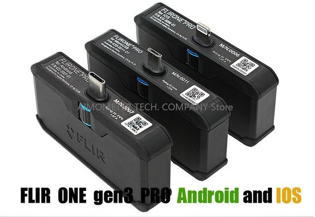 Тепловизионная камера Инфракрасный imager ночного видения FLIR ONE PRO/Gen 3 подходит для iphone ipad iOS или Android с адаптером type-C