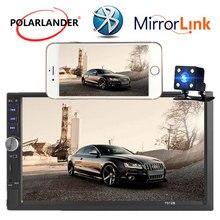 Specchio Link 2 din dimensione Auxina 7 pollici touch screen Auto lettore radio bluetooth MP4 MP5 HD supporta macchina fotografica di retrovisione macchina fotografica FM USB TF