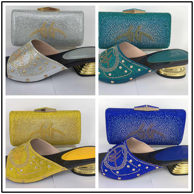 Gold Italian Shoes With Matching Bags Shoes And Bags To Match African Shoe And Bag Set Matching Shoes And Bags For Party
