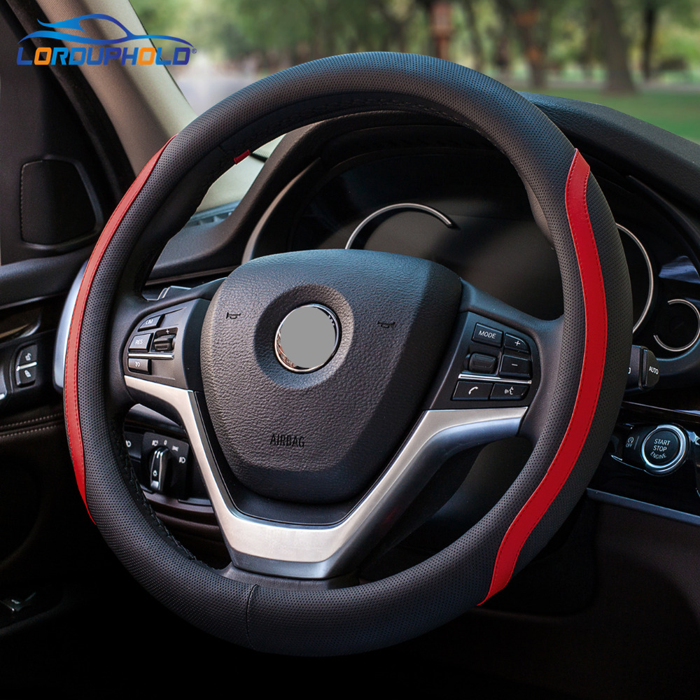 2018 New Car Steering Wheel Cover Diameter 38cm Luxury Car Steering Wheel Cover Car Auto Interior Accessories for Most Cars carbon fiber vinyl leather car steering wheel cover fit for bmw e36 e46 e60 e90 38cm carbon wheel cover interior accessories