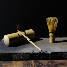 Professional Handmade Natural Bamboo Japan Chasen ( Matcha Whisk ) 100 Pondate and Scoop set  Japanese Tea Ceremony Sets.