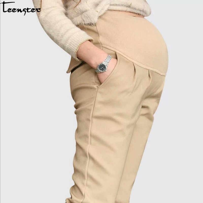 Teenster Ropa De Maternidad Pantalones De Apoyo Premama Ropa Casual Ropa De Trabajo Para Mujeres Embarazadas Pantalones Y Pantalones Pirata Aliexpress