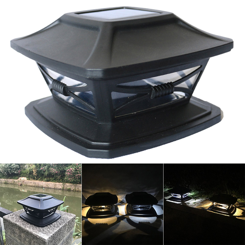 Waterproof Outdoor Solar Fence Light LED Post Cap Light For Fence Deck Patio   LKS99