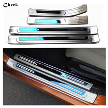 For Honda Civic 2016 2017 with logo Door Sills Stainless Steel Door Sill Plate Protector Welcome Pedal Cover Trim Car Styling(China)