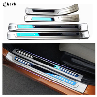 Stainless steel Door Sill Panel Scuff Plate Step Cover Trim Protector for Honda Civic 2016 2017 with logo