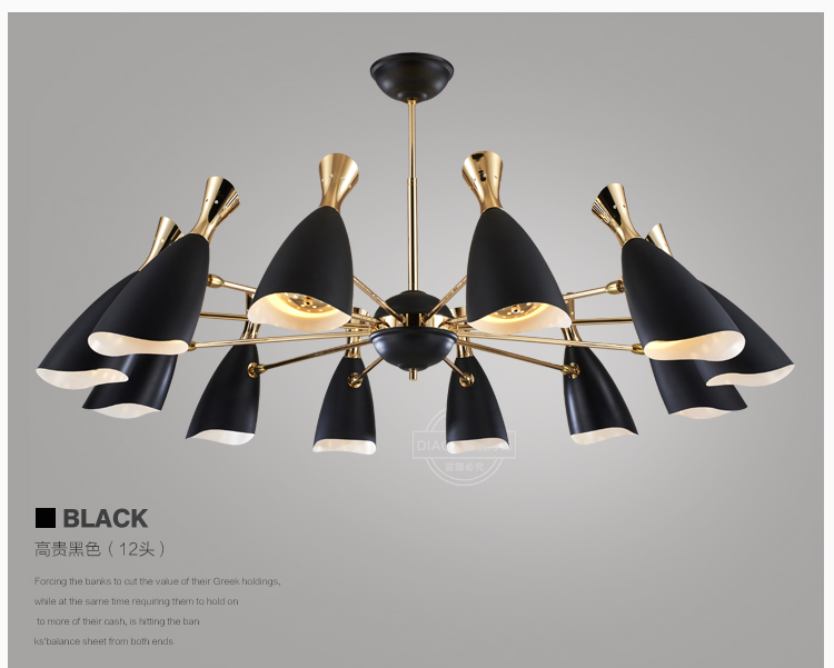 Post-modern Nordic creative personality living room pendant lamp restaurant pendant light designer fashion art lighting bedroom 6 e27 heads nordic post modern designer originality personality art living bed room cafe fashion led chandelier home decor light
