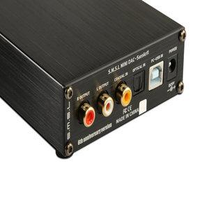 Image 3 - جهاز فك الترميز الصوتي التناظري SMSL السنسكريتي 6th إصدار الذكرى السنوية DAC 32bit/192kHz مع مدخل محوري بصري USB باللون الأسود والفضي