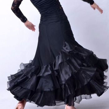2017  Lady Cheap Ballroom Dance Skirt Not Include Top Black Color For Modern/Jazz/Bollywood Female  Fashion  DQ5059