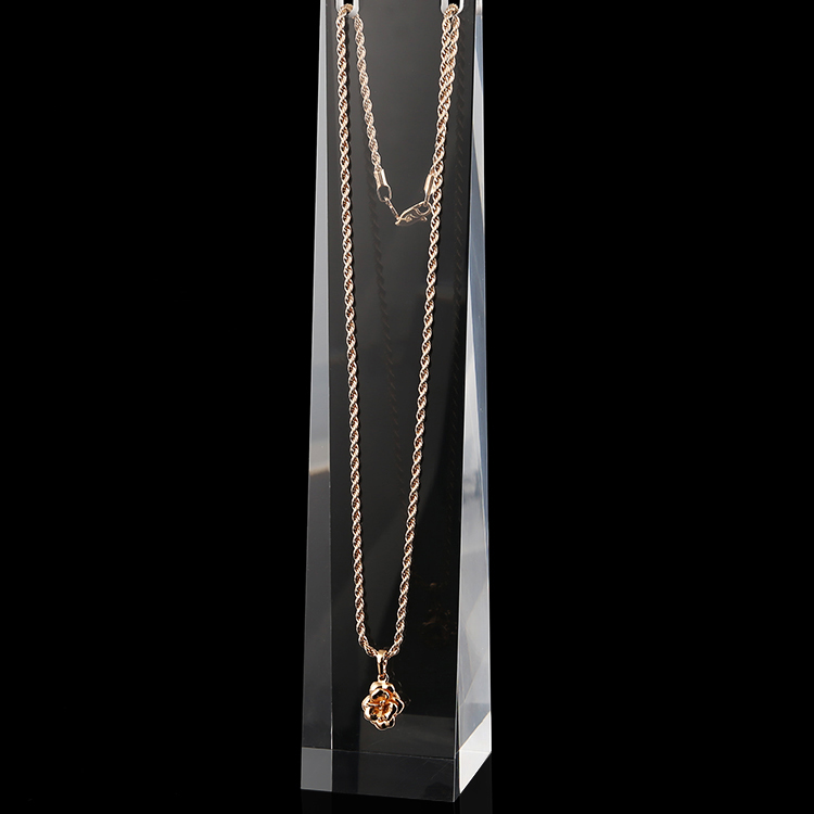 """Image 4 - 8 """"Прозрачный матовый белый акриловый плексиглас, подвесное ожерелье, дисплей, подставка, цепь, держатель для ювелирных изделий, органайзер, стойка для украшенияstand chainnecklace display standnecklace display -"""