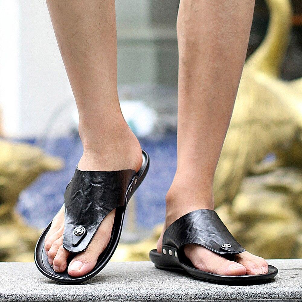 Hausschuhe Männer Hause Klassische Schuhe Lässig Dias Strand Schuhe Männer Flip-flops 2018 Neue Sommer Männer Flip-flops Männlichen Zapatos Hombre Einfach Und Leicht Zu Handhaben