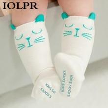 IOLPR 2019 Winter Kids Socks Baby Non-Slip Cute Cartoon Cotton 0-4Y Boys Girls Children dropshipping