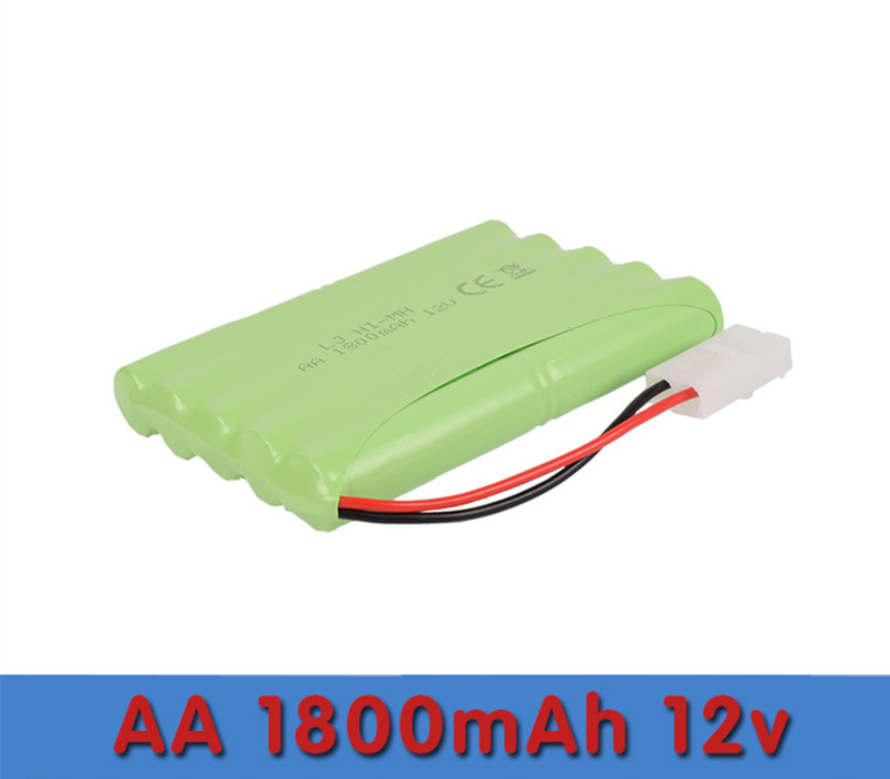 Cncool 1pack KX Original New Ni-MH 12V 1800mAh Ni-MH AA Rechargeable Battery Pack With Plugs Free Shipping