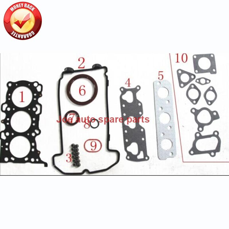 US $37 52 21% OFF|K6A Engine Full gasket set kit for Suzuki Wagon R+ KEI  12V ALTO GF HA25 HA35 0 7L 1998 50272200 11402 78838 1140278838-in Full Set