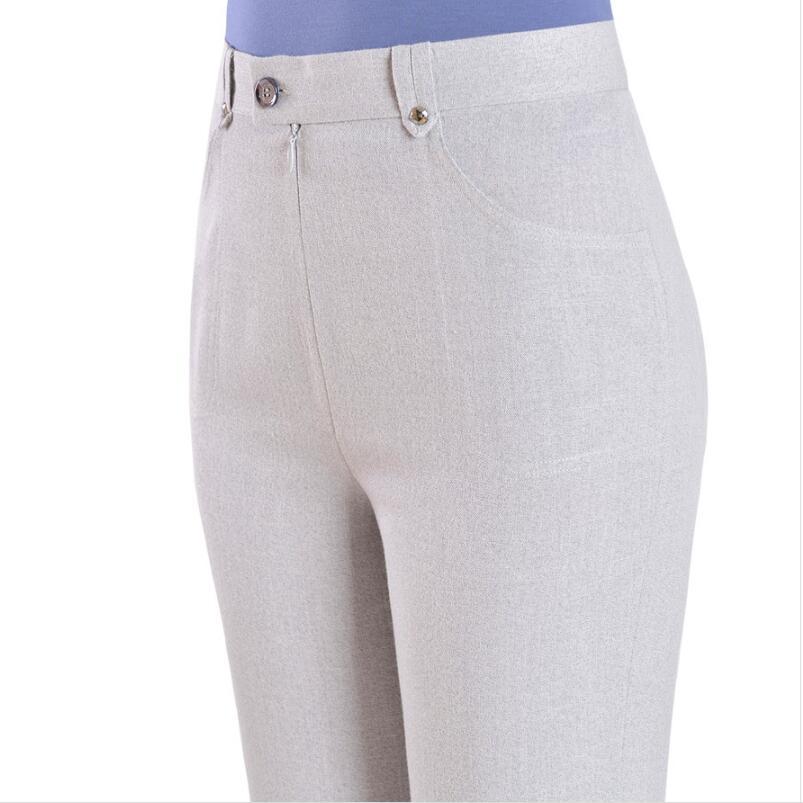2019 Summer Women Plus Size   Pants     Capris   High Waist Straight   Pants   Female   Capris   Casual   Pants   Women SK210