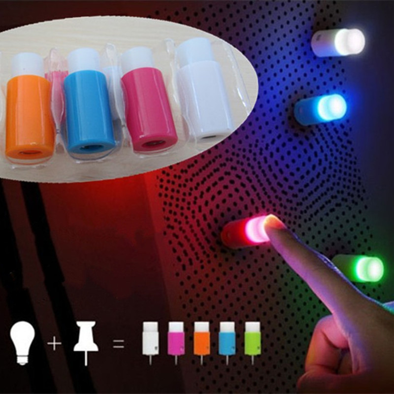 1set Novelty LED Night Light Sucker Bar Wedding Christmas Decoration Wall Lamp And Fairy Push Pin Light
