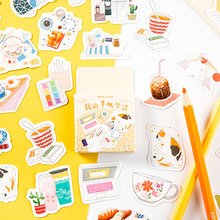 45Pcs/box My account life Decoration Sticker DIY Scrapbook Notebook Album Sticker Stationery Kawaii Girl Stickers kawaii my neighbor totoro cartoon 3d stickers diary sticker scrapbook decoration pvc stationery stickers