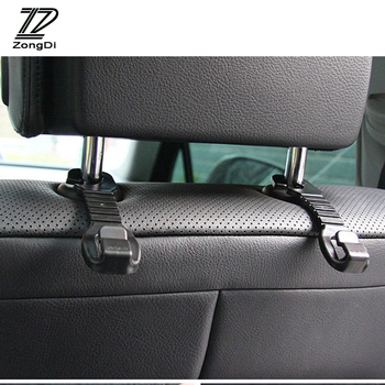 ZD 2pcs Car-styling For Ford Focus 2 3 Fiesta Mondeo Ranger Kuga Seat Leon Ibiza Lexus RX NX Car Back Seat Holder Hooks Covers image