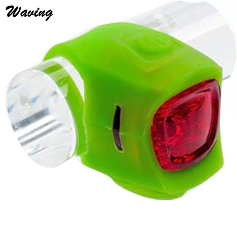 1PC Bike Headlight 2017 Outdoor New Duable Silicone Bicycle Light LED Warning Lights GN Jan 24