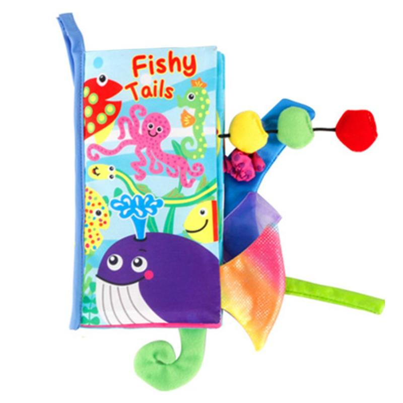 Kids Animal Tails Cloth Book Baby Puzzle Toy Development Books Education Books