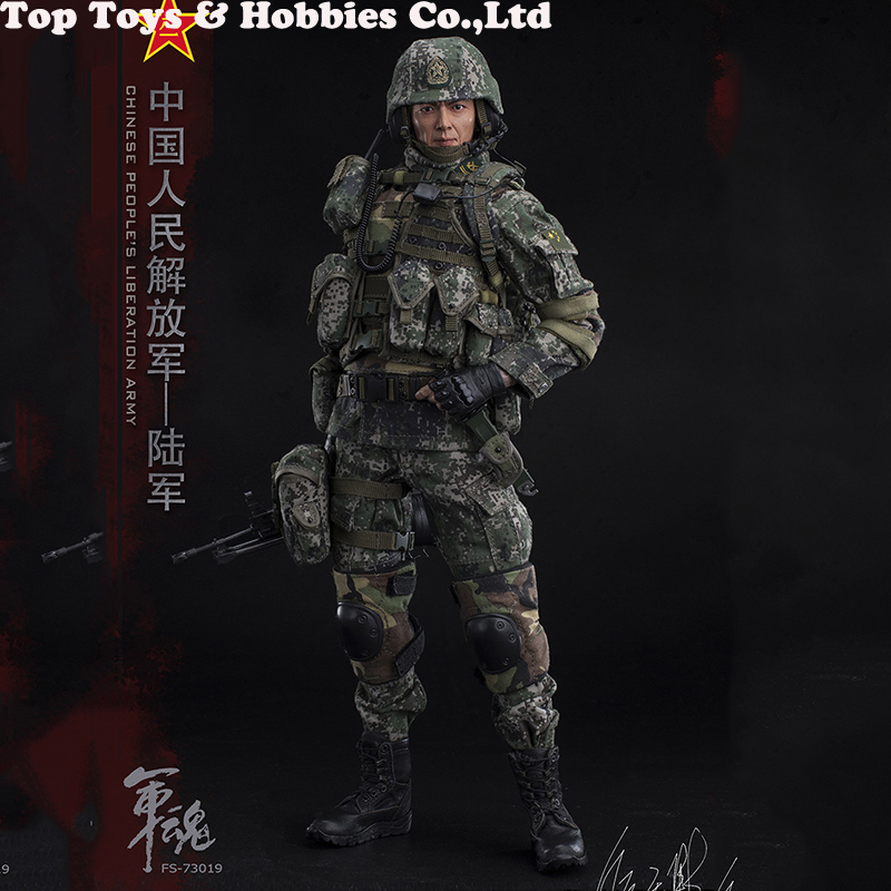1/6 Scale Chiese People's Liberation Army Soul-Series Army Machine Gunner Military Solider Action Figure Full doll collection