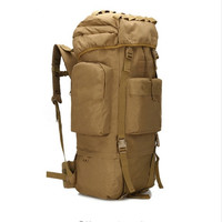 Outdoor Sport Backpack 65L Climbing Bags Water Resistant Travel Hiking Trekking Camping Tactical Backpack With Rain