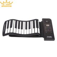 PU88M 88 Keys MIDI 128 Tones Electronic Organ Roll Up Folding Piano Built-in Speaker for Kids недорого